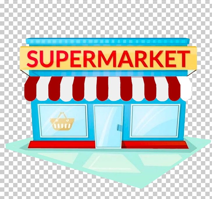 graphic stock Clipart supermarket. Grocery store facade building