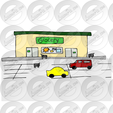 graphic free stock Grocery store picture for. Supermarket clipart word