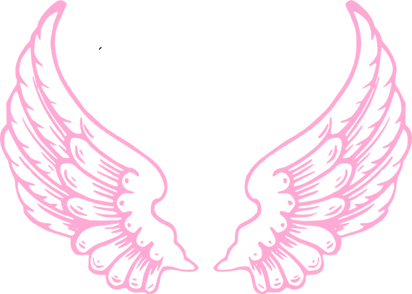 royalty free library Pink Guardian Angel Wings Clip Art at Clker