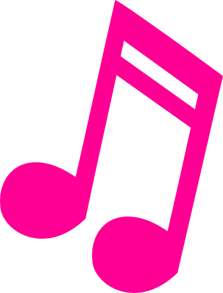 picture freeuse library Hot Pink Music Note clip art