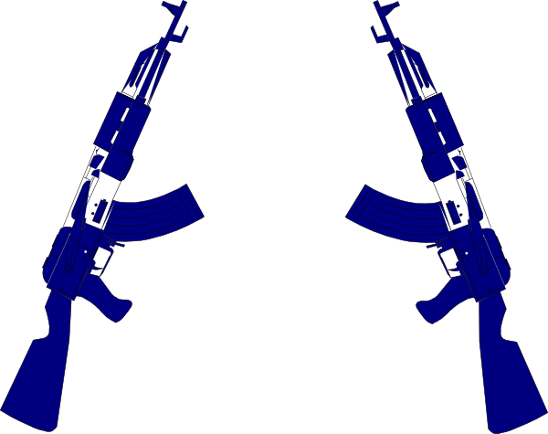 svg Clip art at clker. Guns crossed clipart