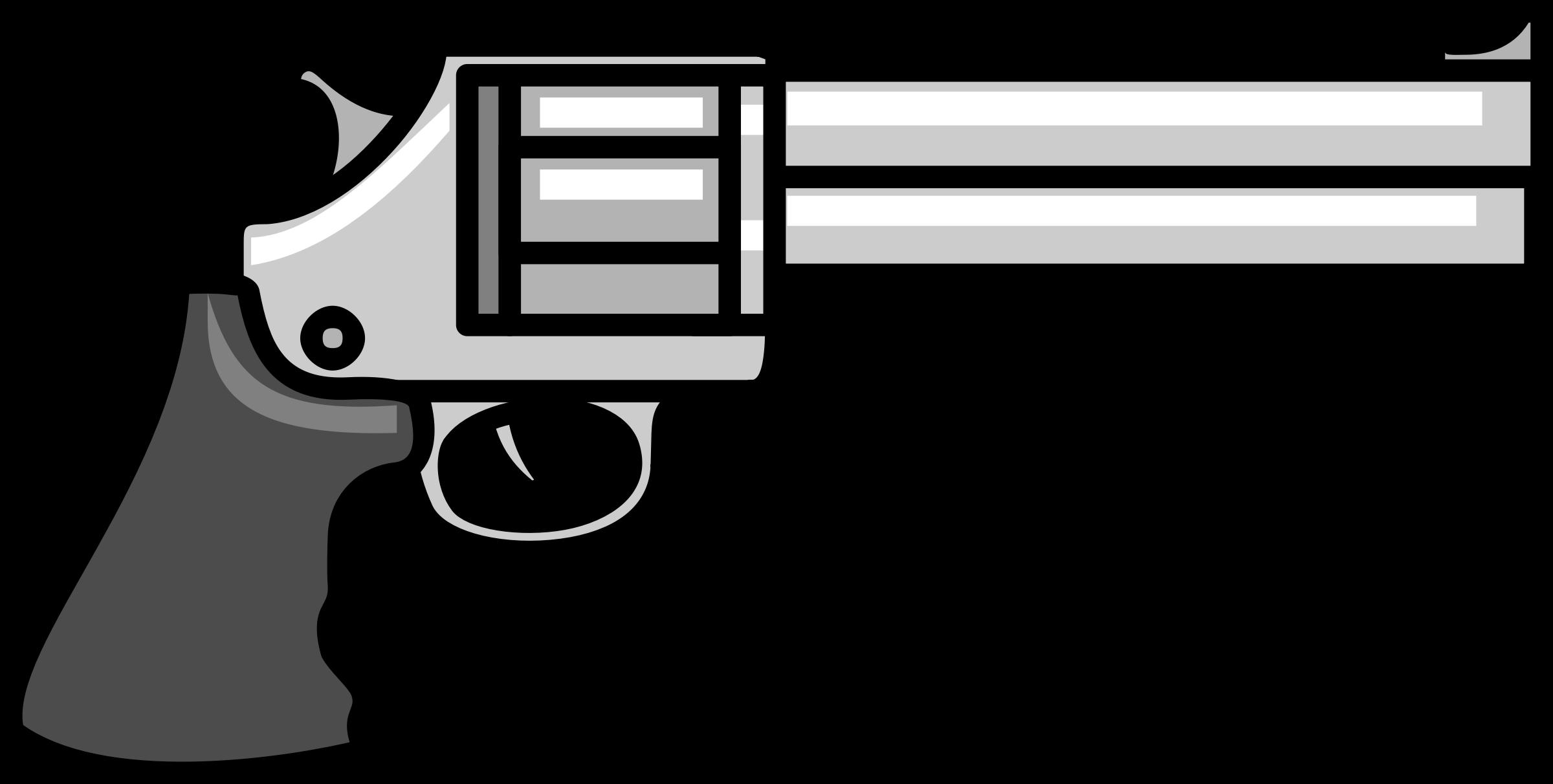 clip transparent stock Gun big image png. Guns clipart black and white