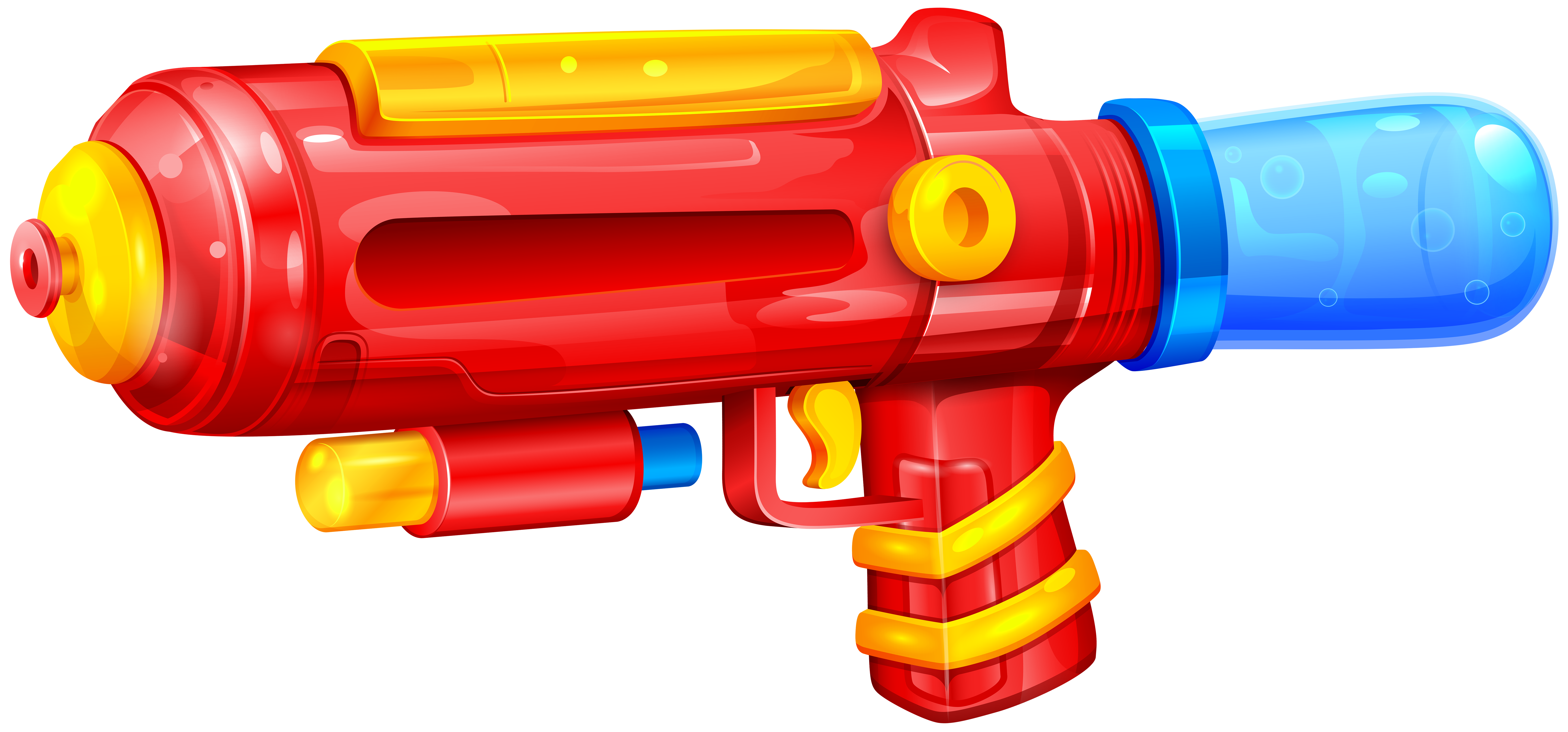 banner black and white Water Gun PNG Clip Art Image