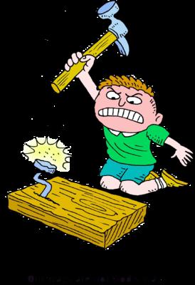 clipart transparent Image angry boy slamming. Hammer clipart hammer nail