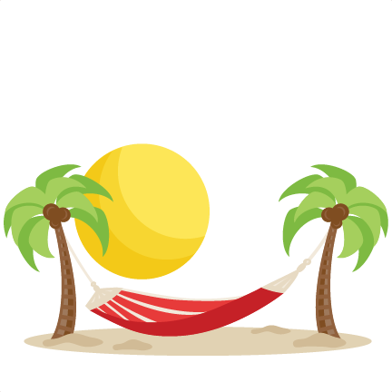 picture royalty free library Beach svg cuts scrapbook. Clipart hammock