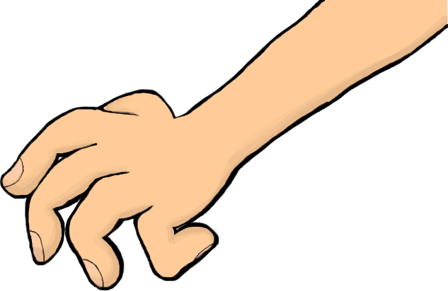 clipart transparent library Grabbing Hand Clipart
