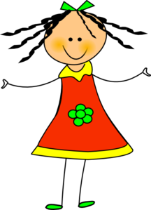 clipart freeuse download Girl free . Happy clipart.