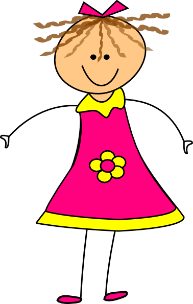 picture library Pink clip art at. Happy girl clipart