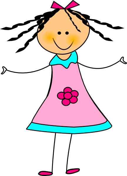 image free download Happy girl clipart. Clip art at clker