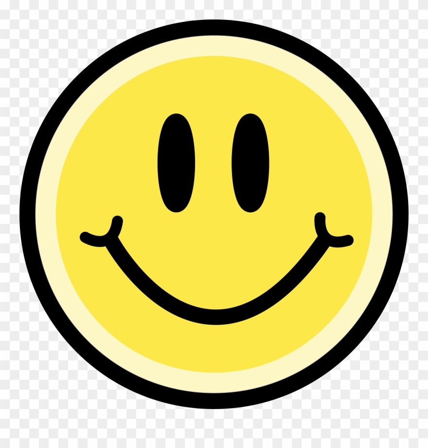 svg stock Clipart happy face. Yellow big image png