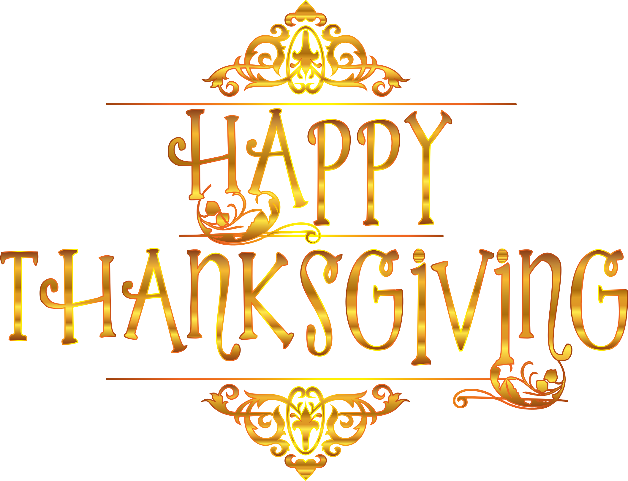 image black and white library Gold typography variation no. Clipart happy thanksgiving