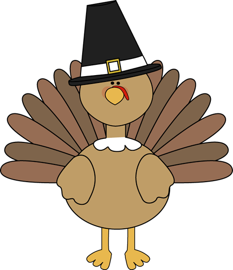 png black and white stock Turkey Wearing a Pilgrim Hat