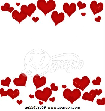 picture freeuse Heart border clip art. Clipart hearts borders