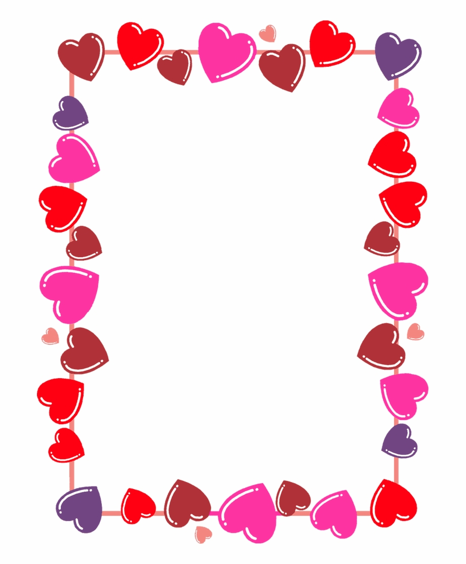 vector library Frame with a transparent. Clipart hearts borders