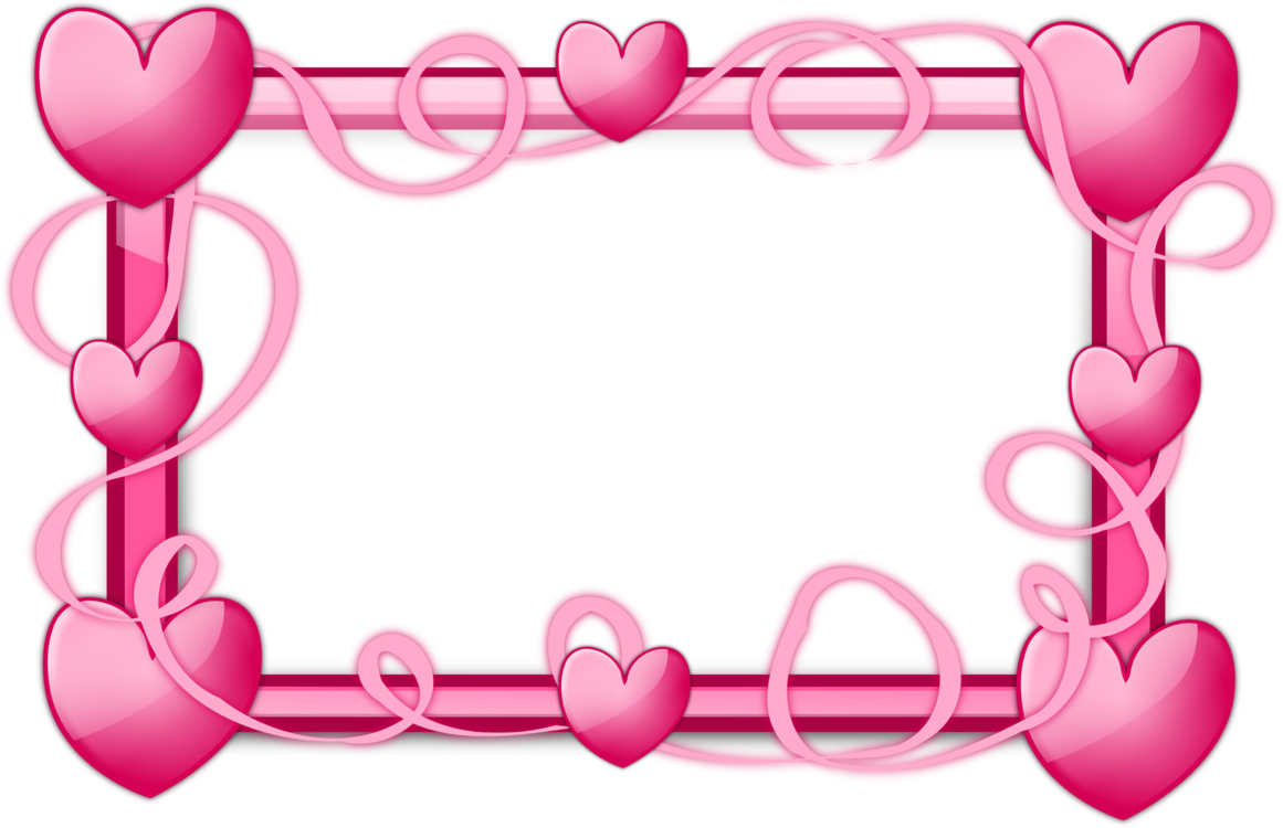 svg royalty free Picture frames right border. Clipart hearts borders