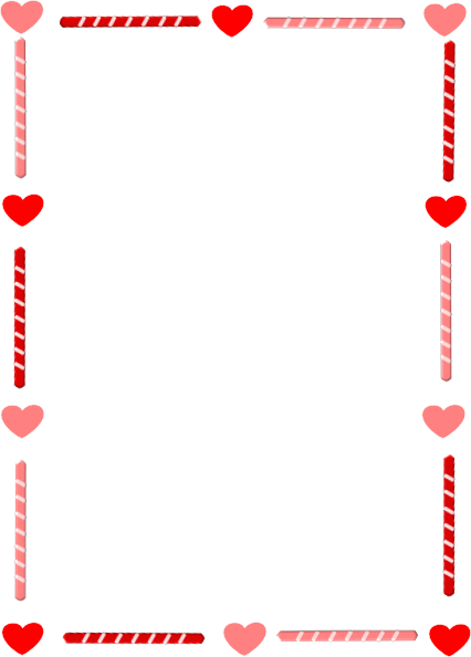 svg library library Heart and candy border. Clipart hearts borders