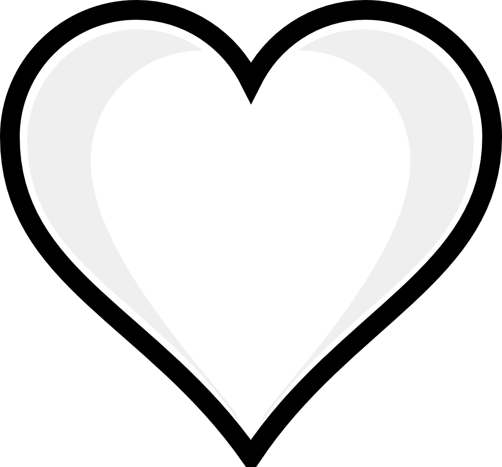 svg freeuse Valentine clipart black and white. Hearts clip art week