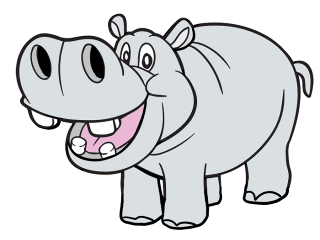 graphic black and white stock Free on dumielauxepices net. Hippo clipart