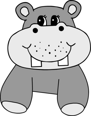 black and white stock Clipartblack com bclipart free. Hippopotamus clipart