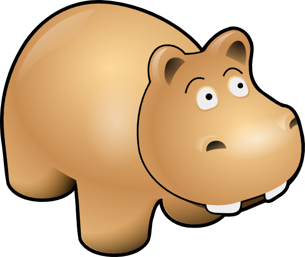 clip freeuse library Fun cartoon . Hippo clipart