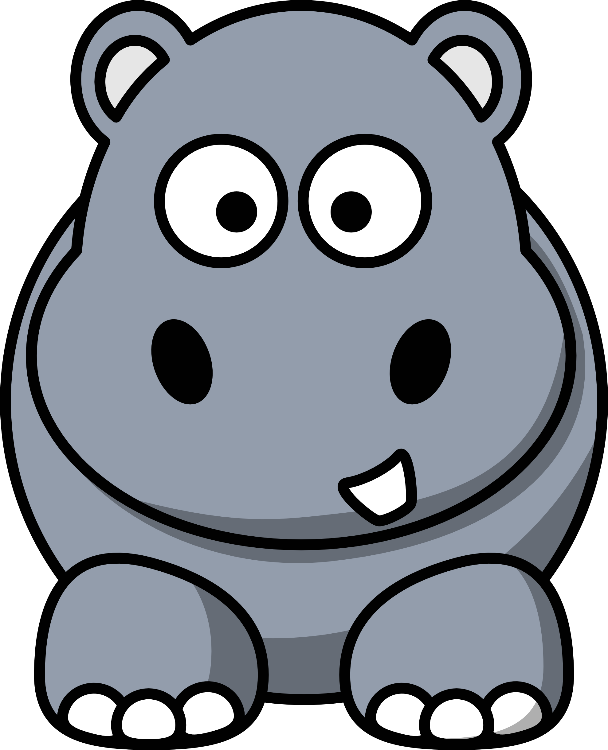 svg download Hippo printable free on. Hippopotamus clipart