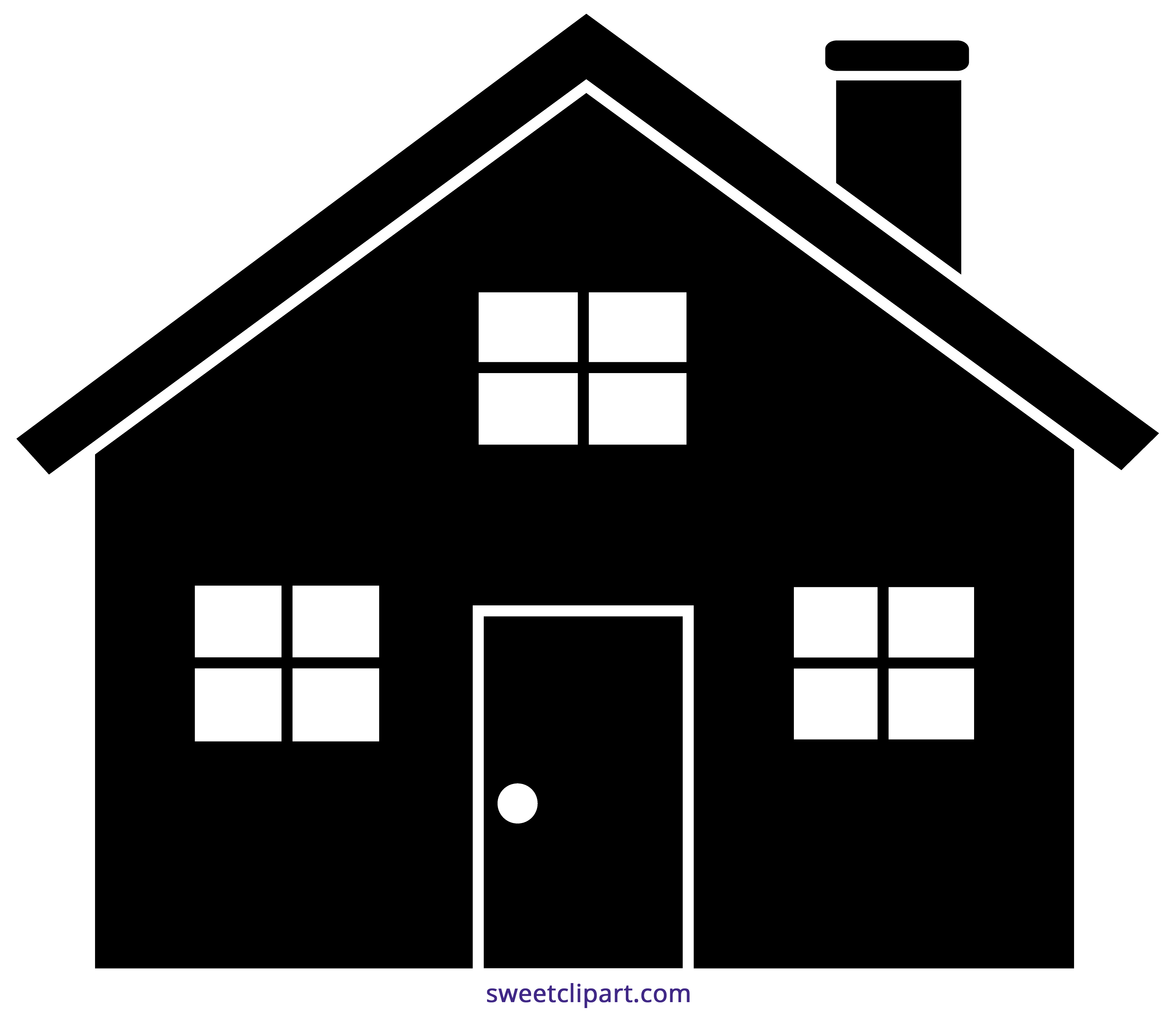 clipart freeuse House black silhouette sweet. Houses clipart sheep.