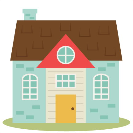 banner free Cute house set svg. Living clipart nice home.