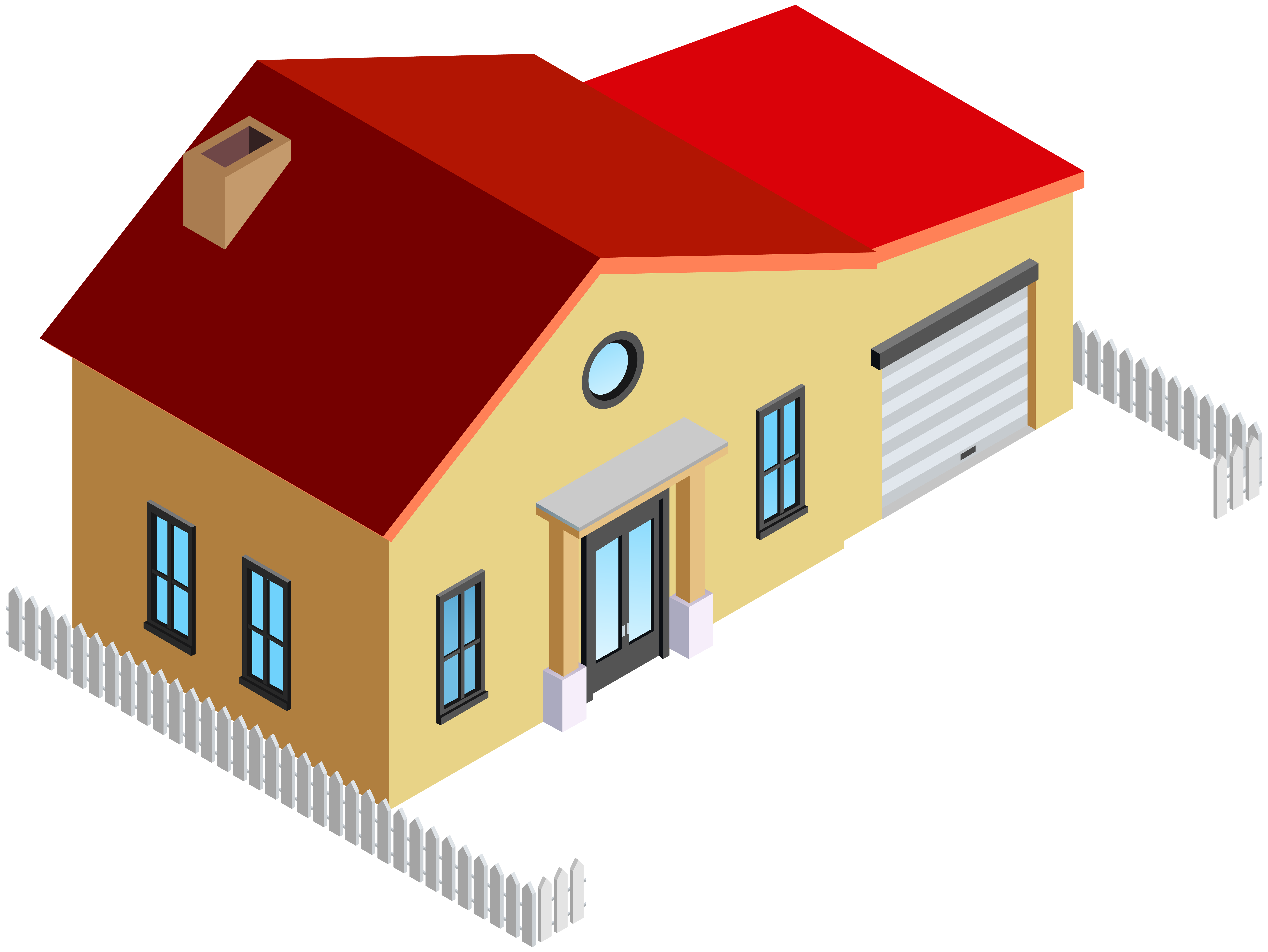 clip art stock House with fence png. Houses clipart.