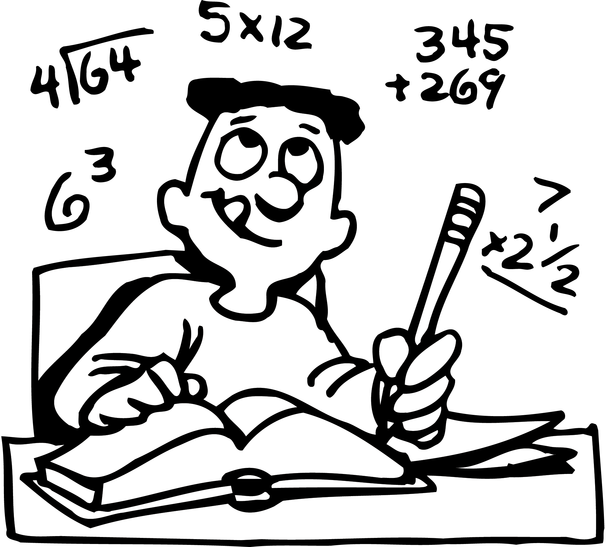 graphic transparent Writer clipart math.  collection of homework
