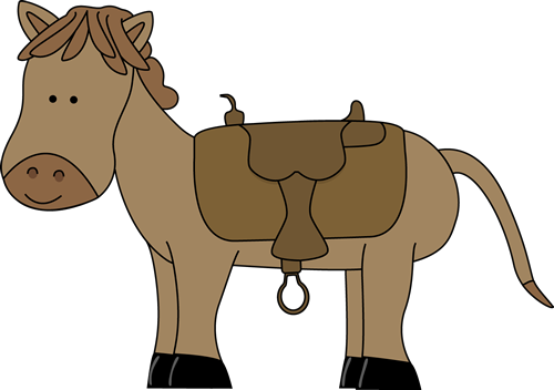 vector freeuse stock Horse with Saddle Clip Art