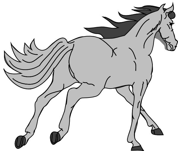 clipart freeuse Gray Horse Clipart