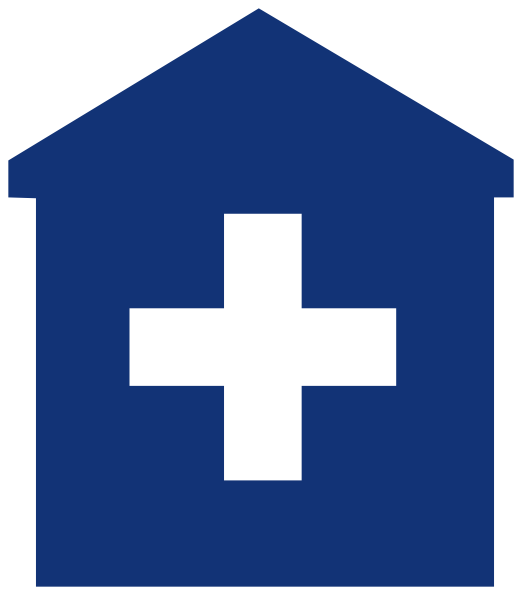 picture black and white library Hospital clipart. Primary care medical home.