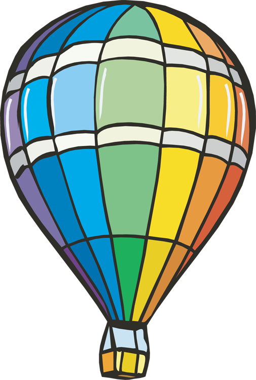 royalty free library Hot air balloon clip art