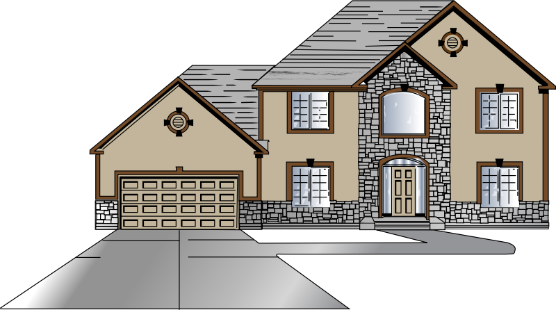 jpg royalty free library Mansion clipart two story. House design front big.