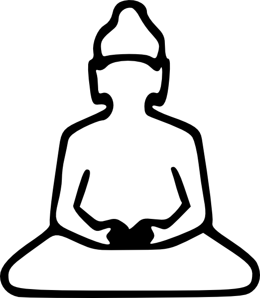 vector free Clipart images of buddha. Outline clip art at