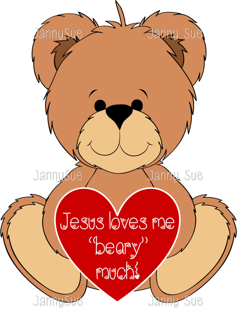 banner transparent stock Jesus loves me beary much valentines craft
