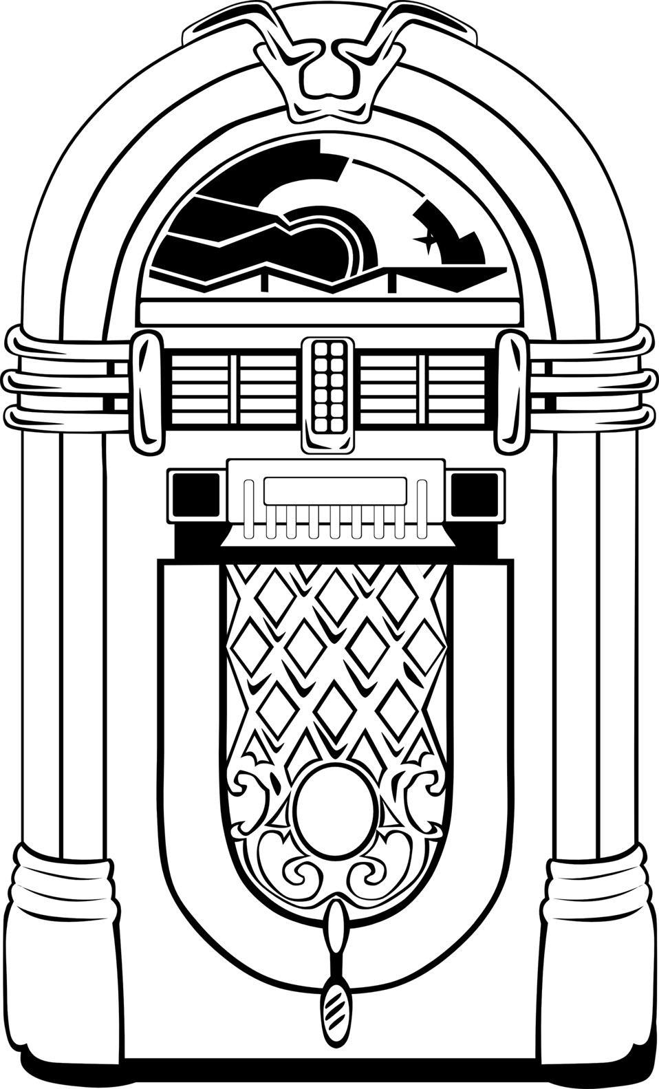 clipart library download Jukebox drawing. Public domain clip art