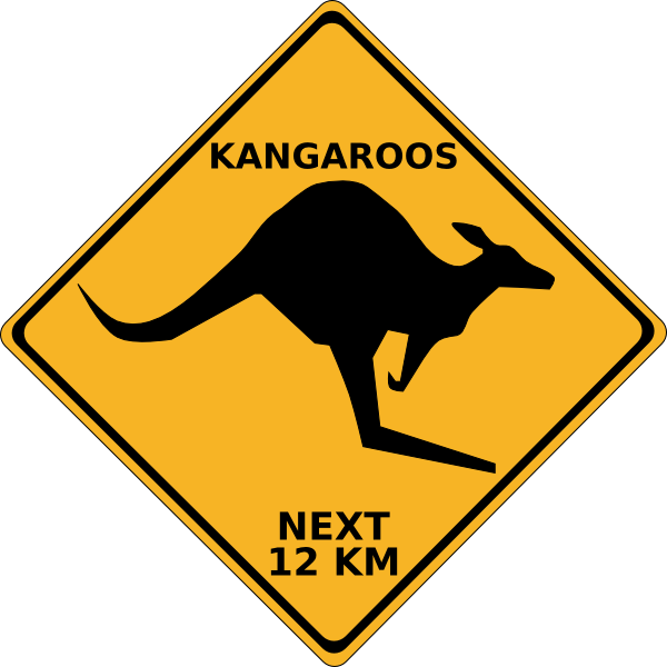 jpg stock Clipart kangaroo. Crossing sign clip art