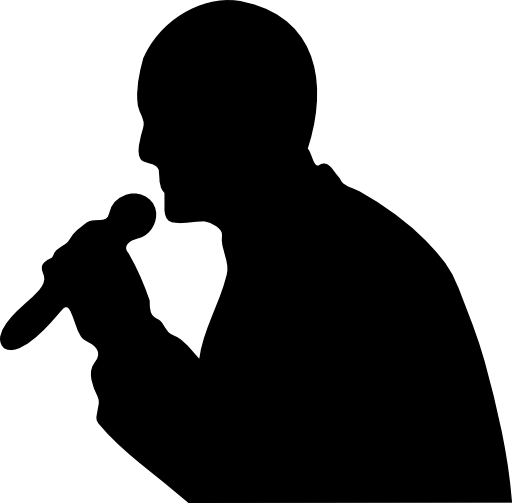 vector download Clipart karaoke. Man with a microphone.