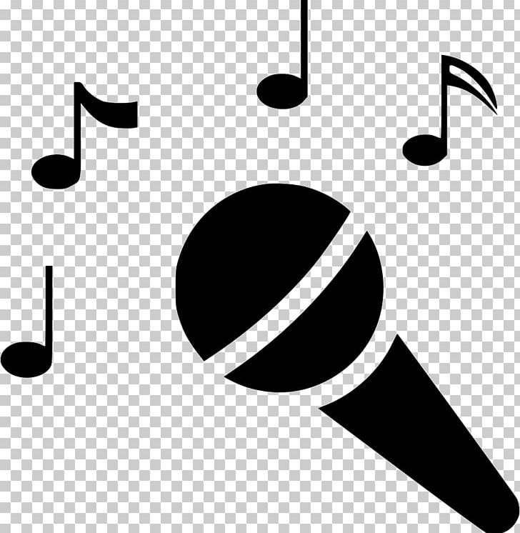 jpg black and white library Microphone computer icons png. Clipart karaoke