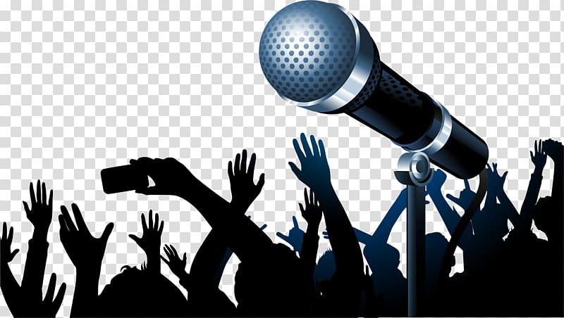 banner royalty free stock Black and gray microphone. Clipart karaoke.