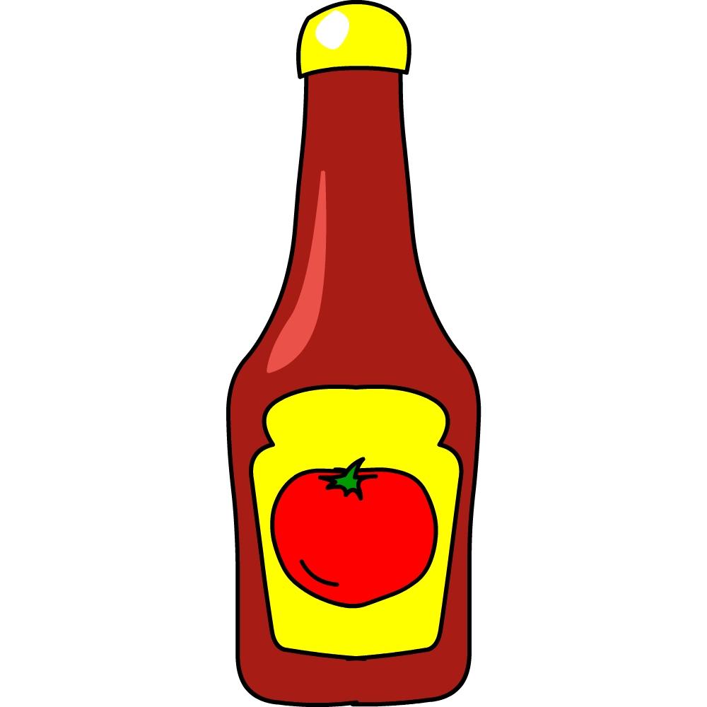 vector transparent stock Clipart ketchup.  clipartlook
