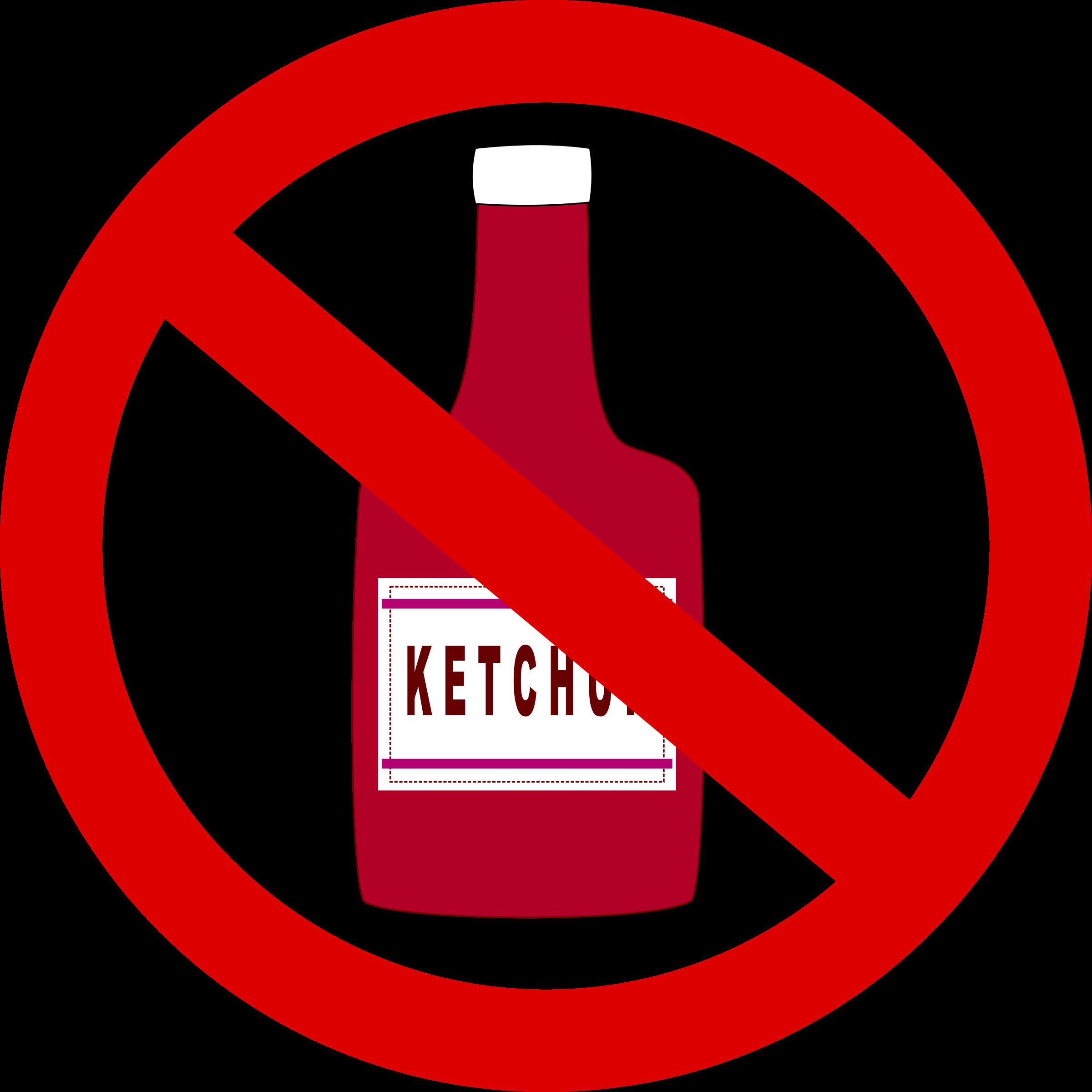 banner freeuse Clipart ketchup. Forbidden big image png