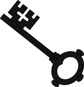 clip black and white library Skeleton key free panda. Keys clipart svg