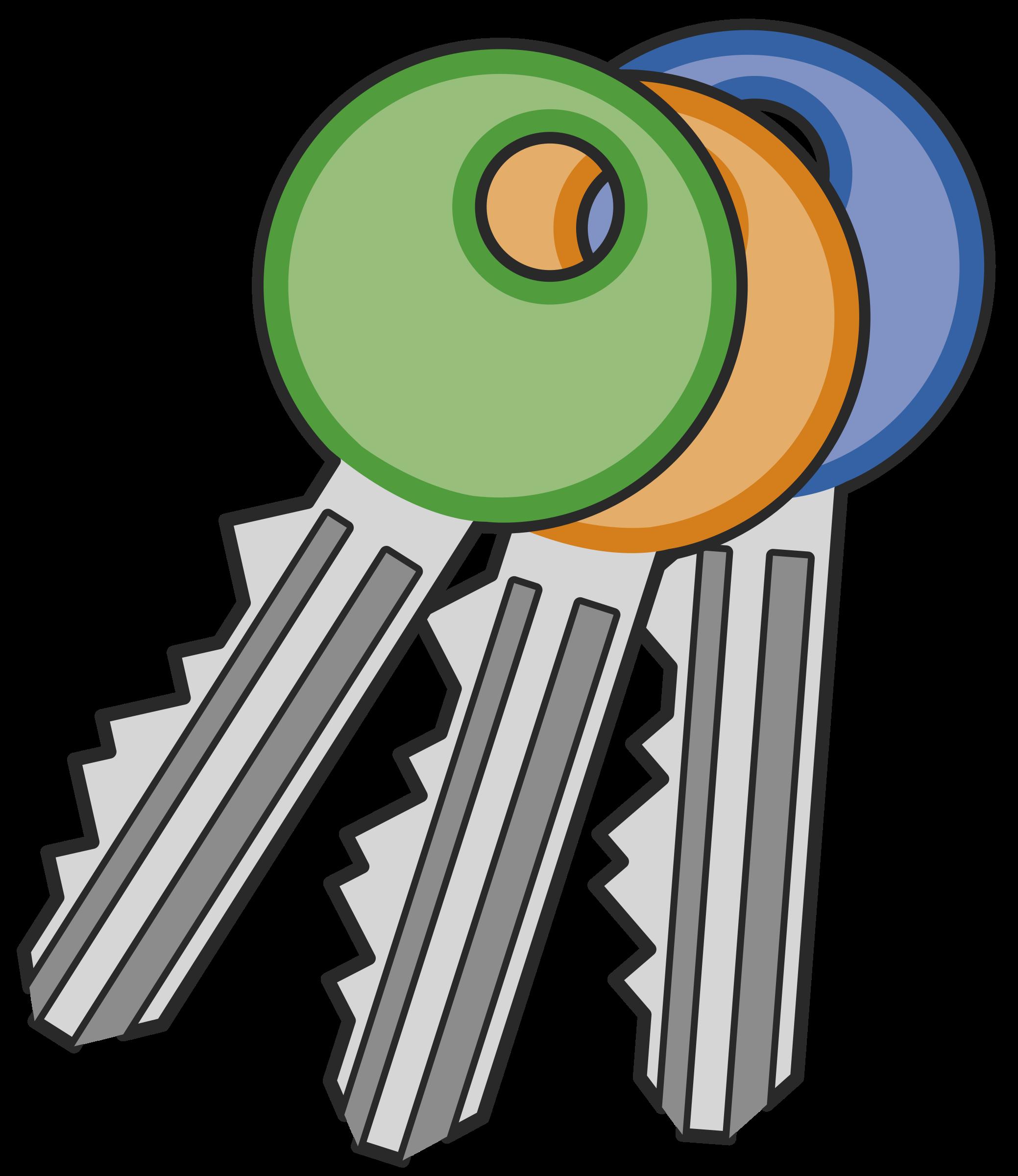png free Key and lock clipart. Cles de serrure keys