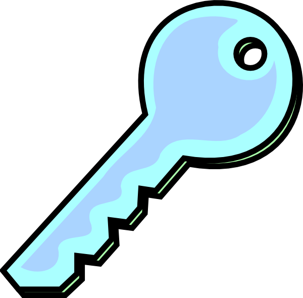 png library Clipart key. Grey blue clip art.
