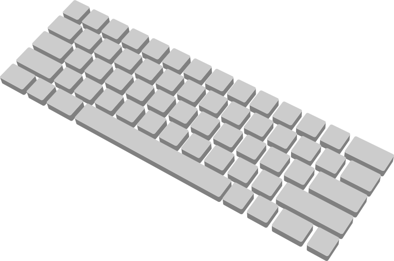svg black and white library Computer d medium image. Clipart keyboard