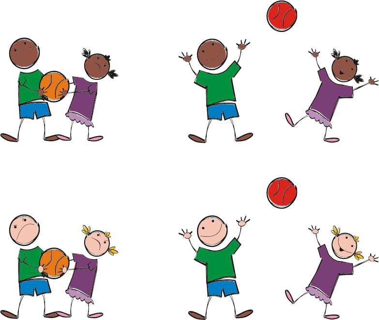 jpg free library Multicultural sports medium image. Clipart kids playing
