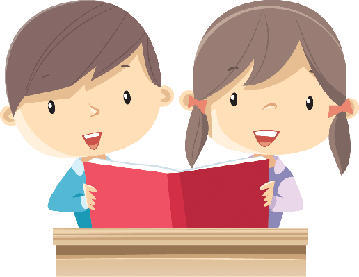 royalty free stock Mom with children the. Clipart kids reading