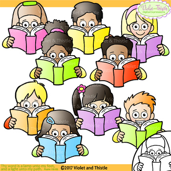clip art free download Clip art . Clipart kids reading